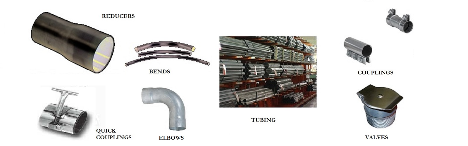 vacuum bends elbows valves couplings tubing quick couplings